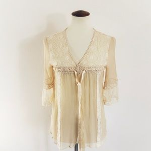 Free People Gauzy Boho top